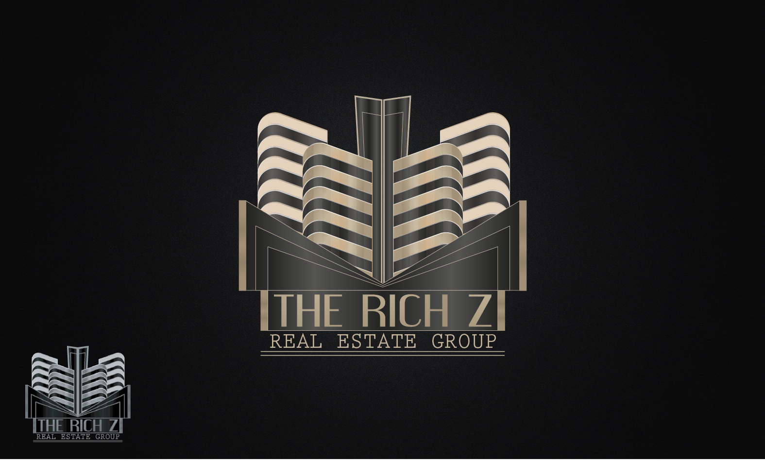 Logo Design by Private User - Entry No. 296 in the Logo Design Contest The Rich Z. Real Estate Group Logo Design.