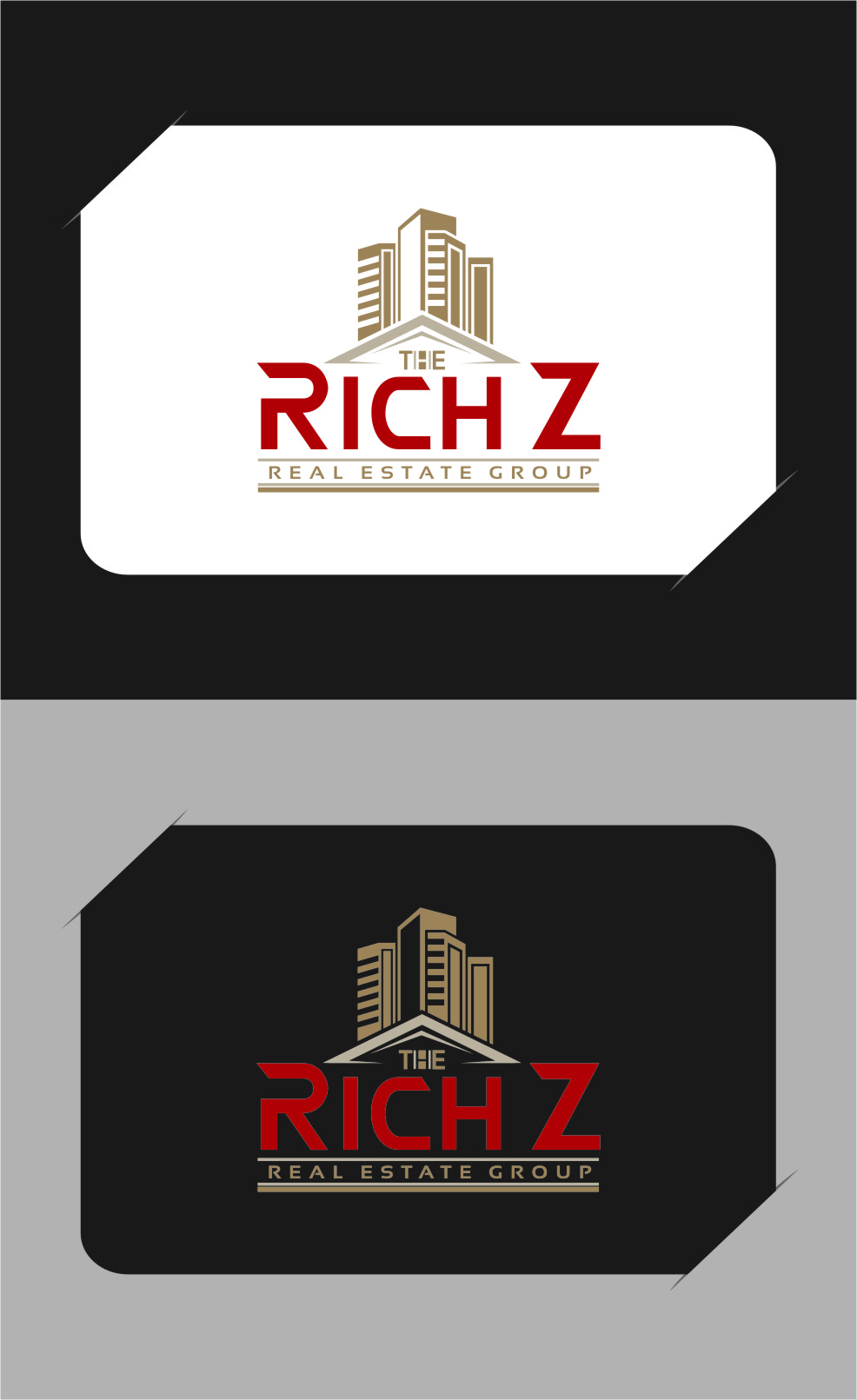 Logo Design by Ngepet_art - Entry No. 297 in the Logo Design Contest The Rich Z. Real Estate Group Logo Design.