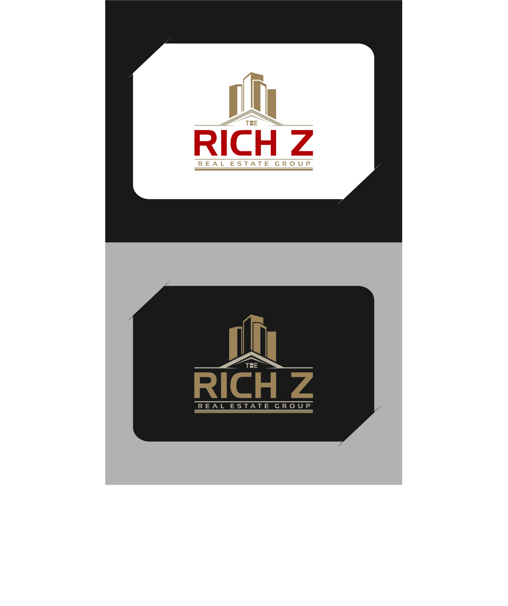 Logo Design by RasYa Muhammad Athaya - Entry No. 298 in the Logo Design Contest The Rich Z. Real Estate Group Logo Design.