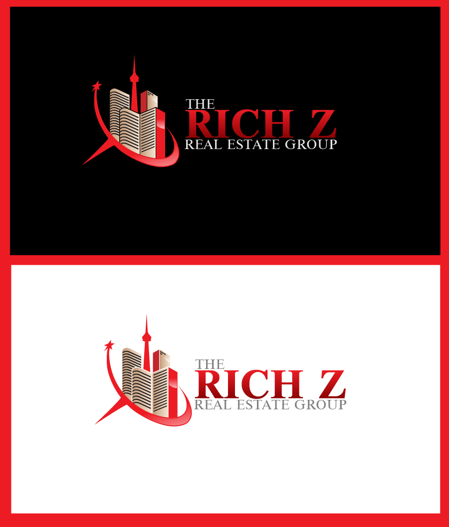 Logo Design by Private User - Entry No. 302 in the Logo Design Contest The Rich Z. Real Estate Group Logo Design.