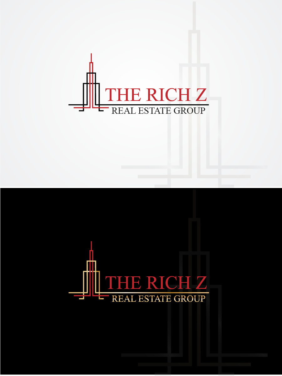 Logo Design by Private User - Entry No. 304 in the Logo Design Contest The Rich Z. Real Estate Group Logo Design.