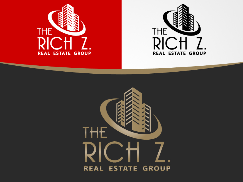Logo Design by Richard Soriano - Entry No. 308 in the Logo Design Contest The Rich Z. Real Estate Group Logo Design.