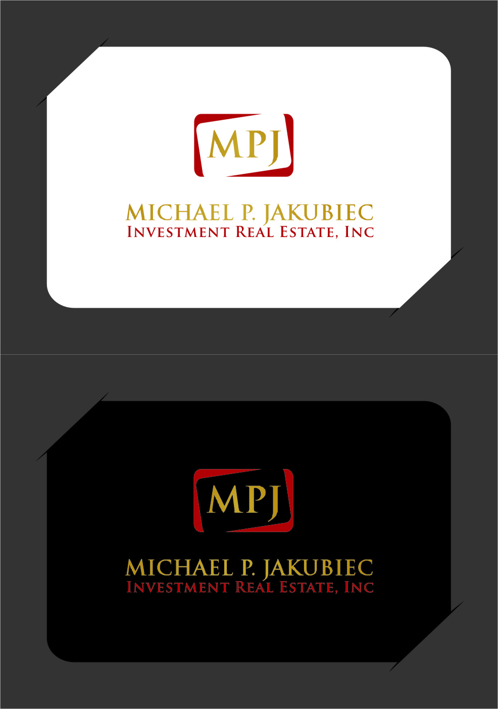 Logo Design by Ngepet_art - Entry No. 127 in the Logo Design Contest New Logo Design for Michael P. Jakubiec Investment Real Estate, Inc..