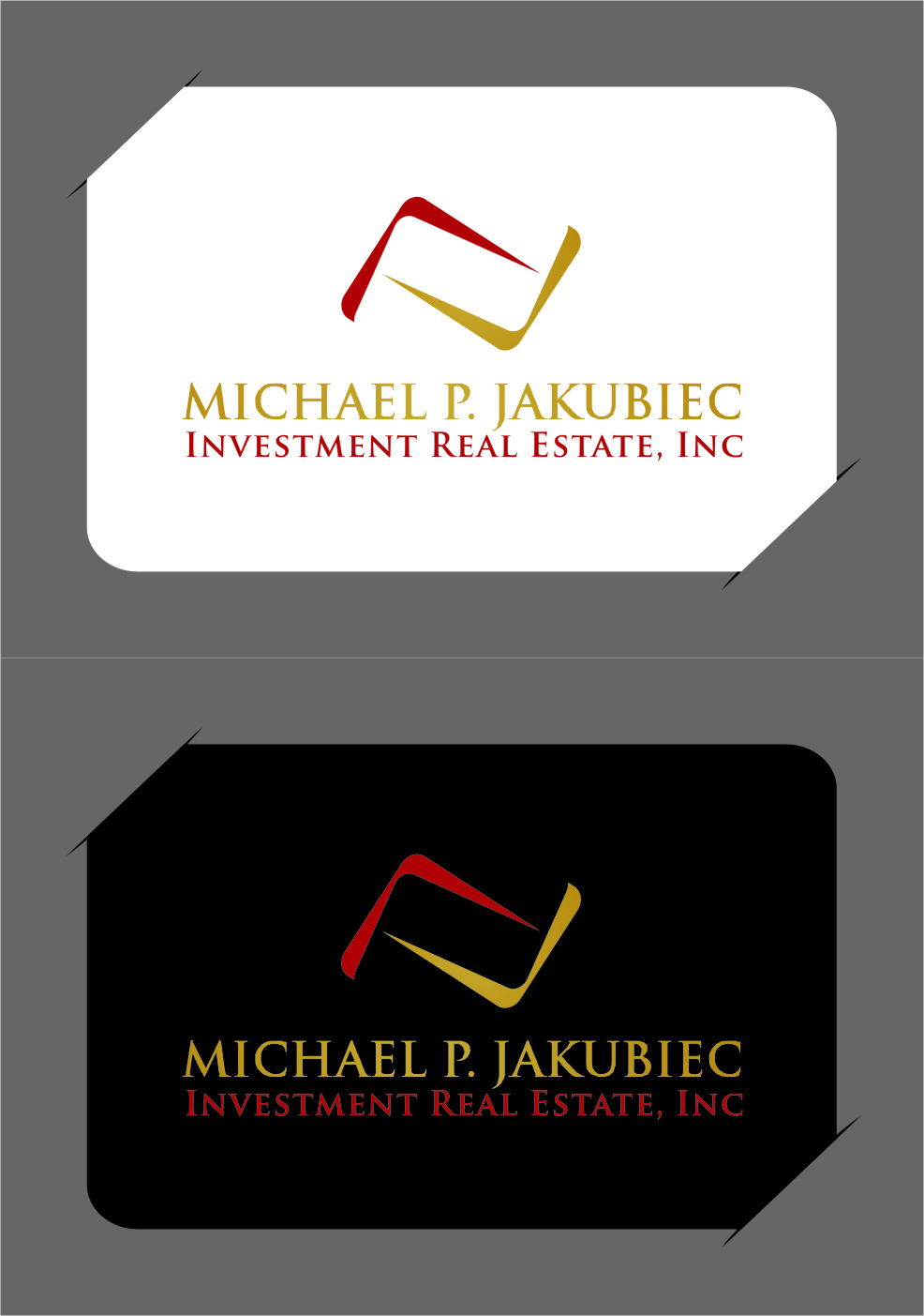 Logo Design by RasYa Muhammad Athaya - Entry No. 128 in the Logo Design Contest New Logo Design for Michael P. Jakubiec Investment Real Estate, Inc..