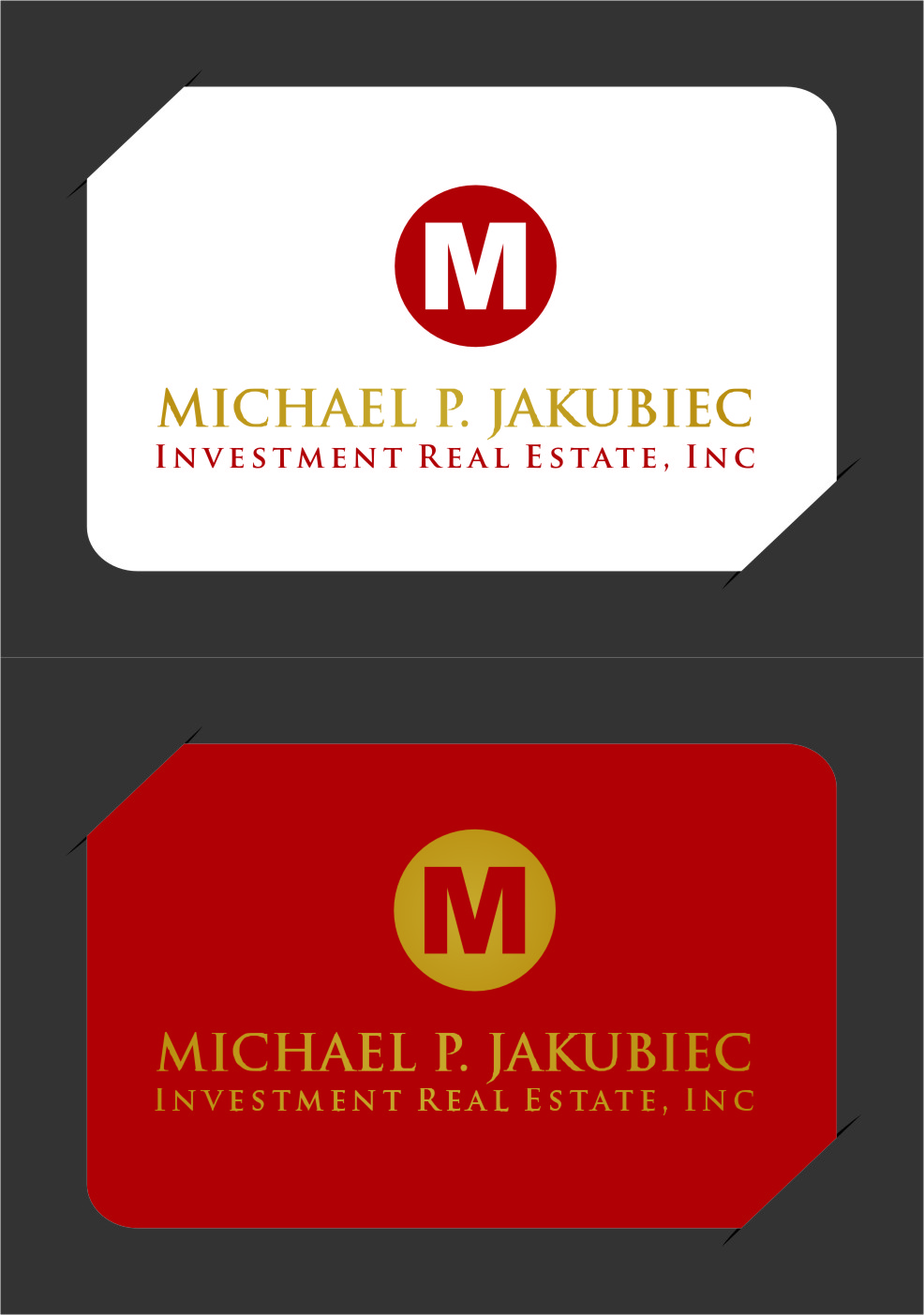 Logo Design by RasYa Muhammad Athaya - Entry No. 130 in the Logo Design Contest New Logo Design for Michael P. Jakubiec Investment Real Estate, Inc..