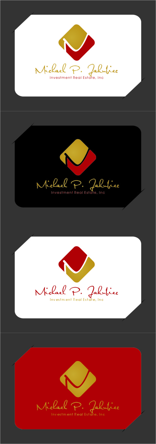 Logo Design by Ngepet_art - Entry No. 133 in the Logo Design Contest New Logo Design for Michael P. Jakubiec Investment Real Estate, Inc..