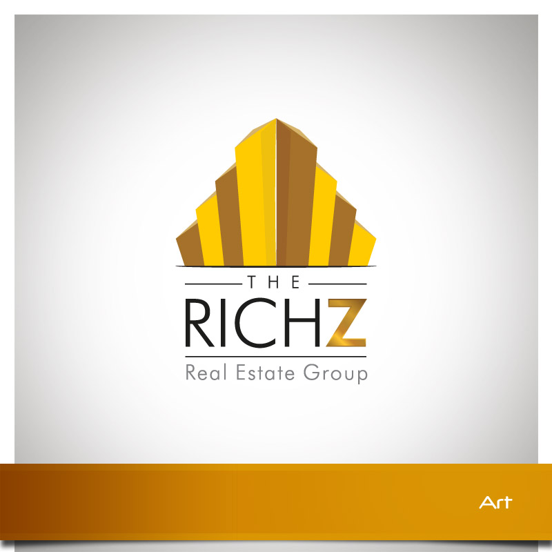 Logo Design by Puspita Wahyuni - Entry No. 309 in the Logo Design Contest The Rich Z. Real Estate Group Logo Design.