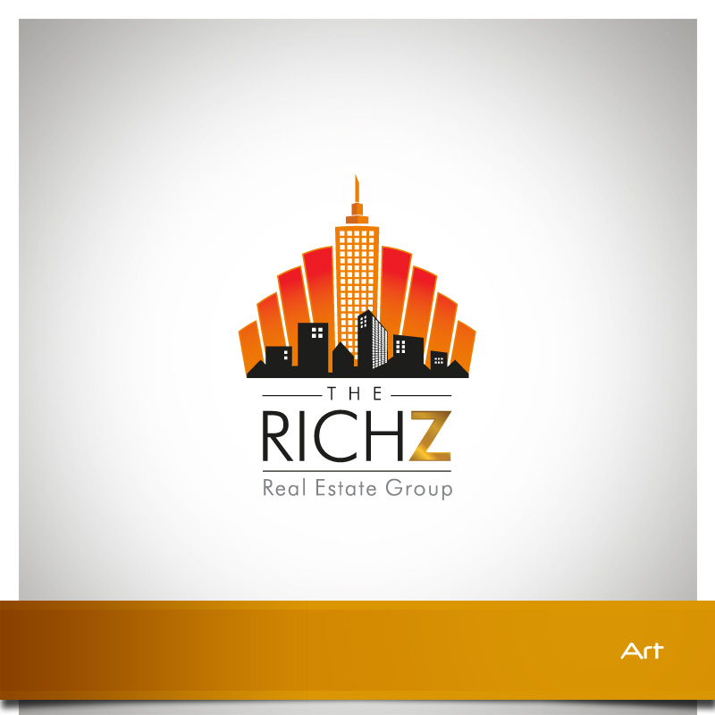 Logo Design by Puspita Wahyuni - Entry No. 312 in the Logo Design Contest The Rich Z. Real Estate Group Logo Design.