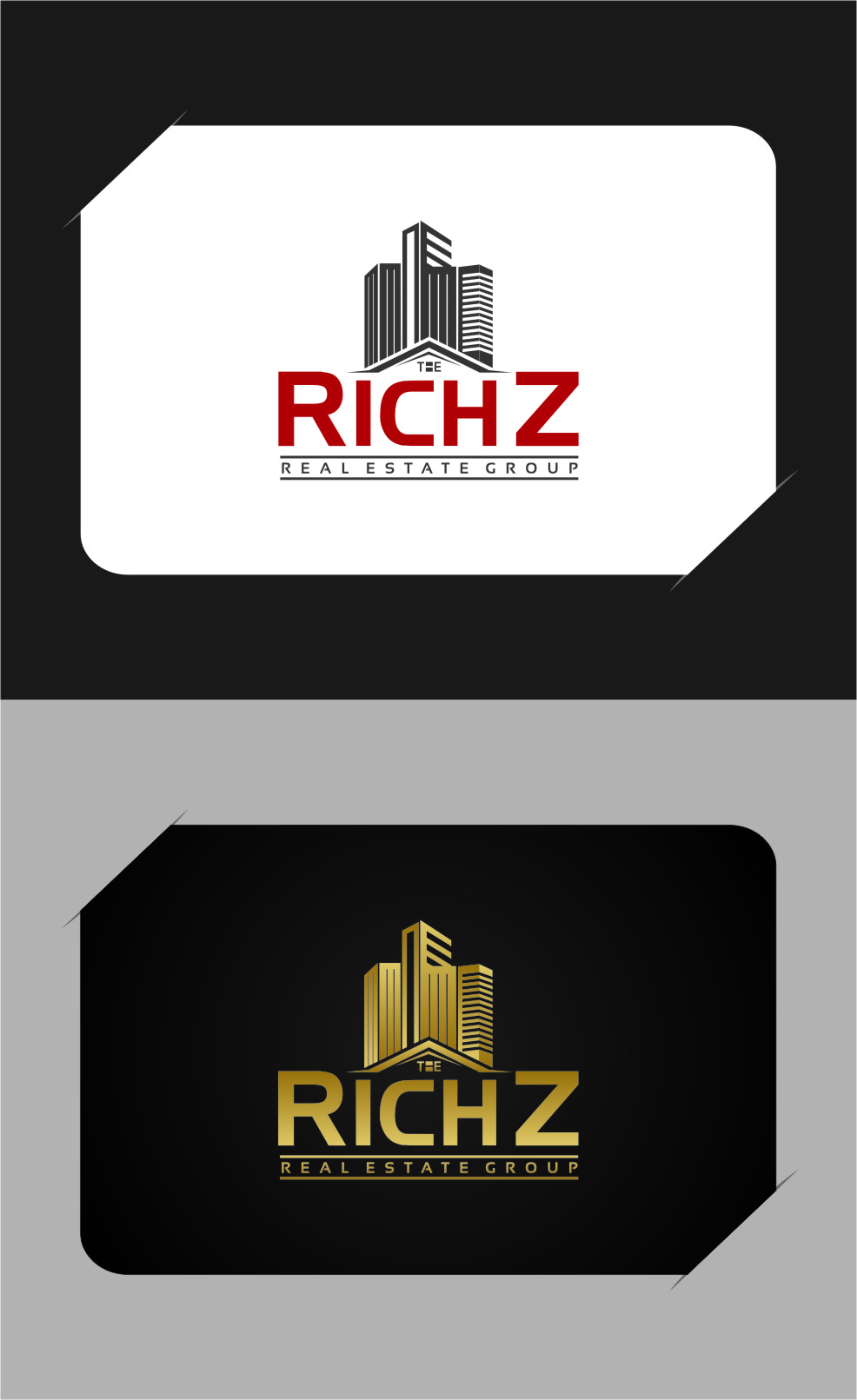 Logo Design by RasYa Muhammad Athaya - Entry No. 314 in the Logo Design Contest The Rich Z. Real Estate Group Logo Design.