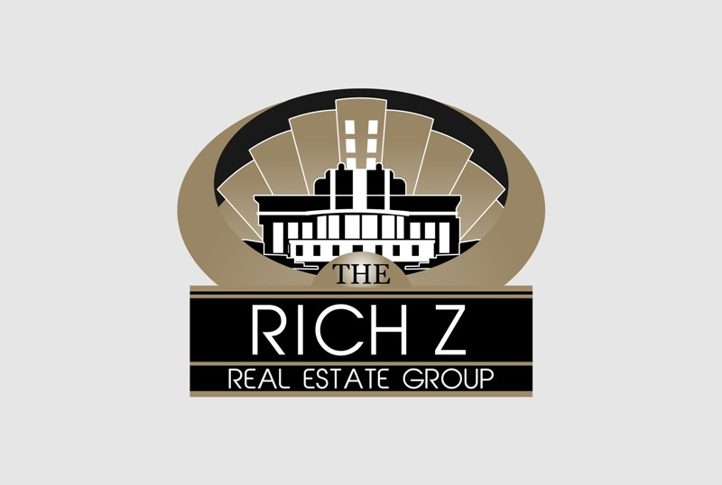 Logo Design by Crispin Jr Vasquez - Entry No. 315 in the Logo Design Contest The Rich Z. Real Estate Group Logo Design.