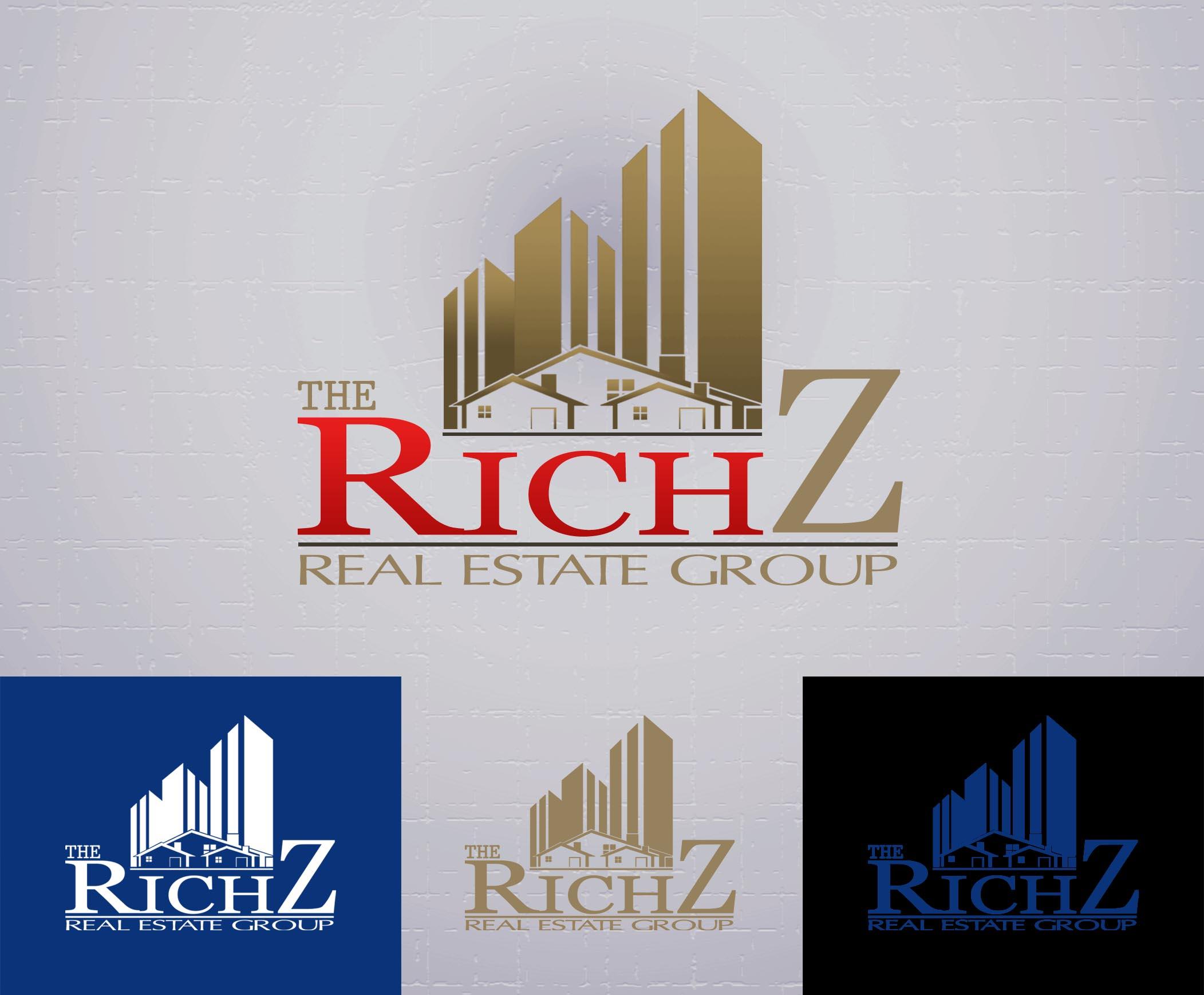 Logo Design by Cesar III Sotto - Entry No. 318 in the Logo Design Contest The Rich Z. Real Estate Group Logo Design.