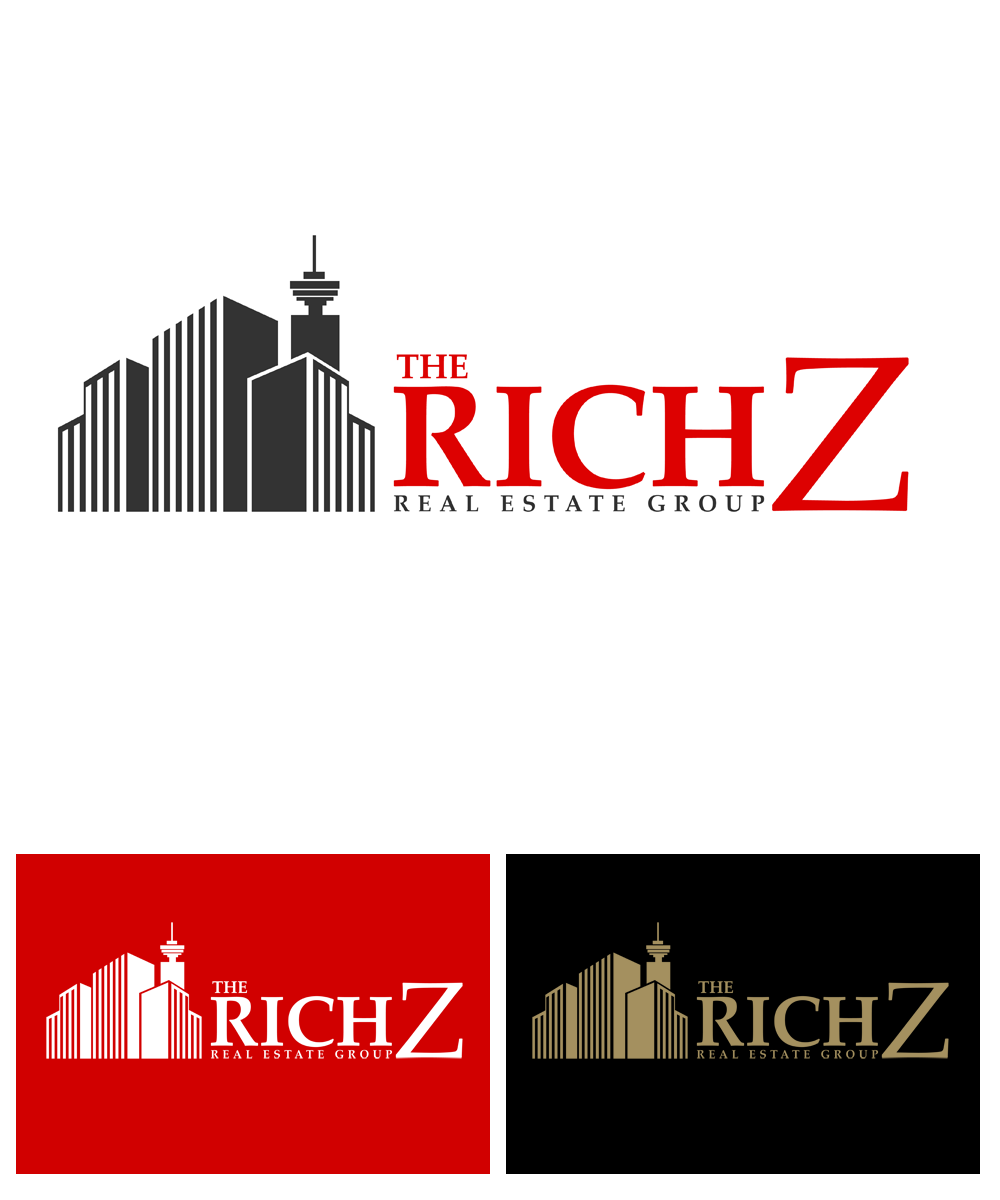 Logo Design by Private User - Entry No. 319 in the Logo Design Contest The Rich Z. Real Estate Group Logo Design.