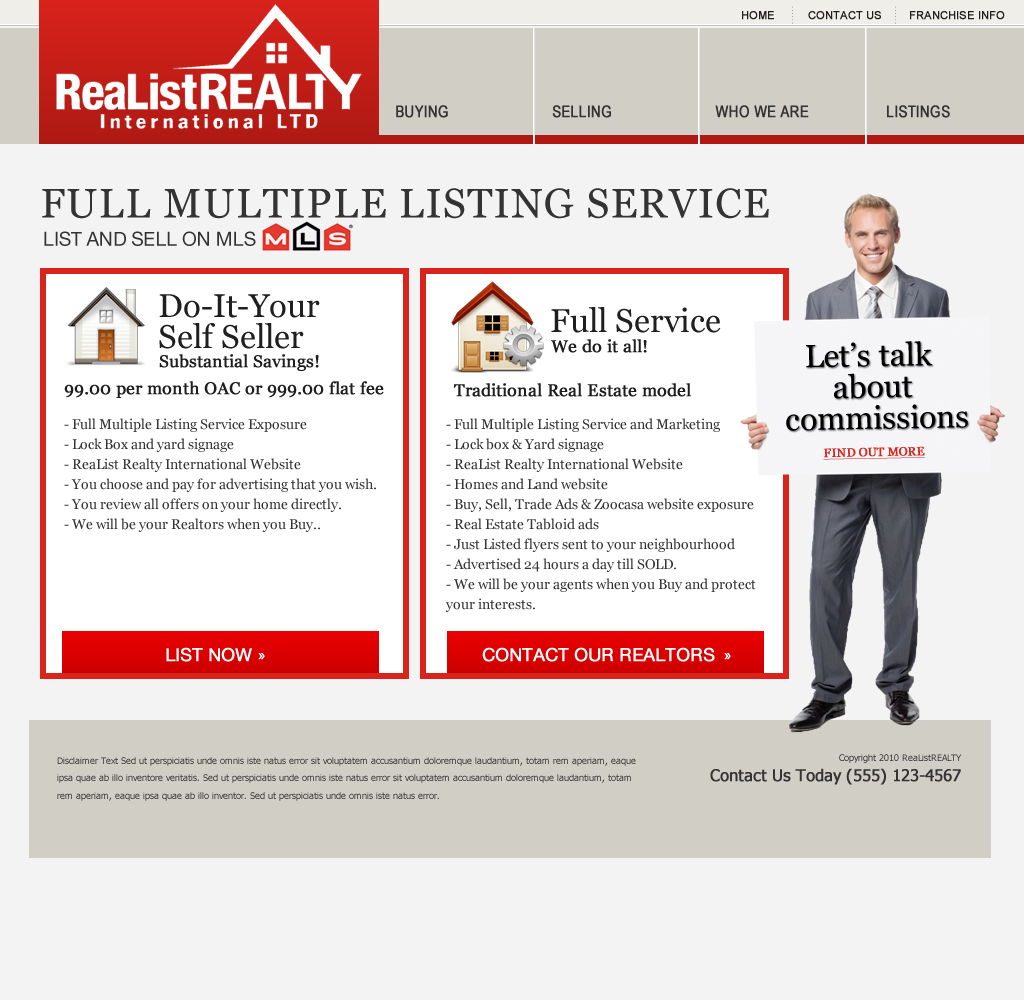 Web Page Design by wem24 - Entry No. 133 in the Web Page Design Contest Realist Realty International Ltd..