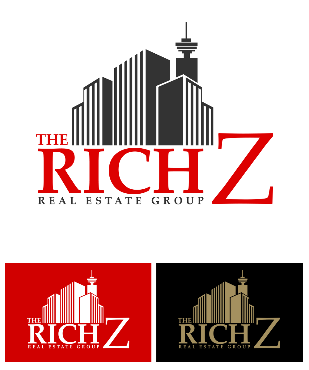 Logo Design by Private User - Entry No. 320 in the Logo Design Contest The Rich Z. Real Estate Group Logo Design.