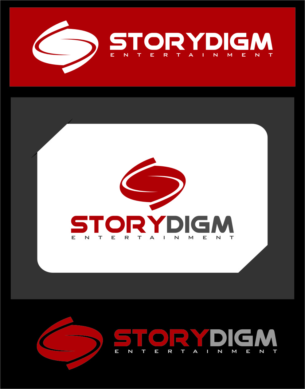 Logo Design by RasYa Muhammad Athaya - Entry No. 102 in the Logo Design Contest Inspiring Logo Design for Storydigm Entertainment.
