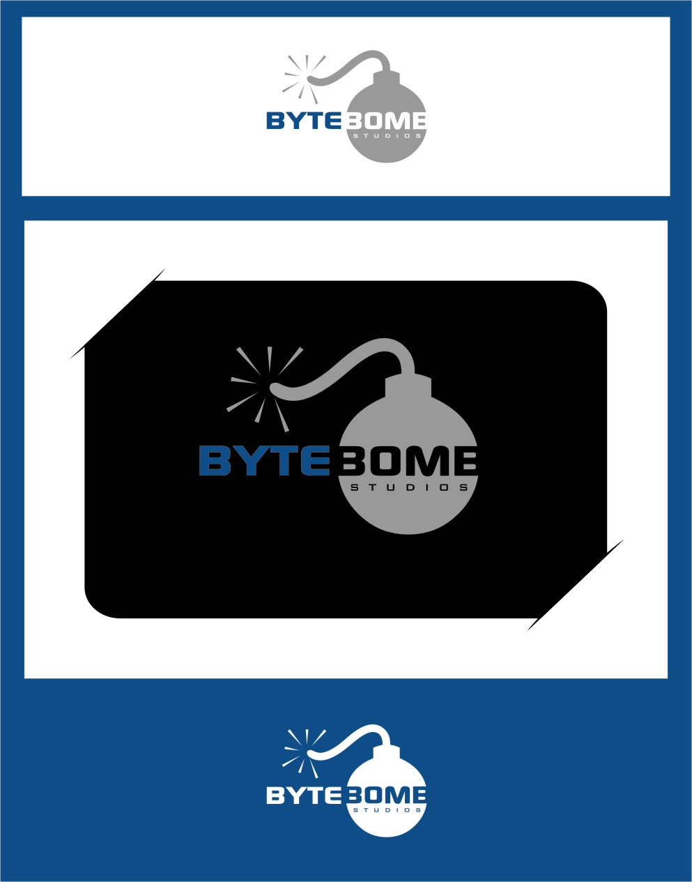 Logo Design by RasYa Muhammad Athaya - Entry No. 51 in the Logo Design Contest Captivating Logo Design for ByteBomb Studios.