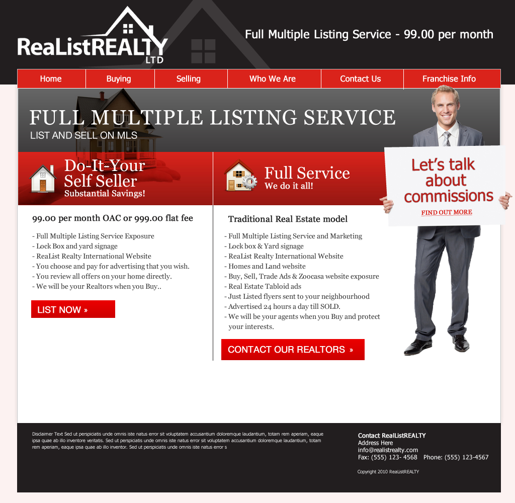 Web Page Design by wem24 - Entry No. 134 in the Web Page Design Contest Realist Realty International Ltd..