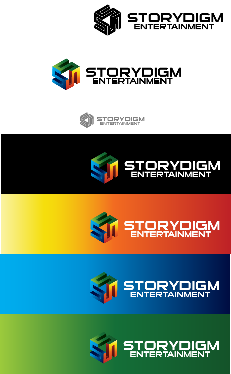 Logo Design by brands_in - Entry No. 103 in the Logo Design Contest Inspiring Logo Design for Storydigm Entertainment.