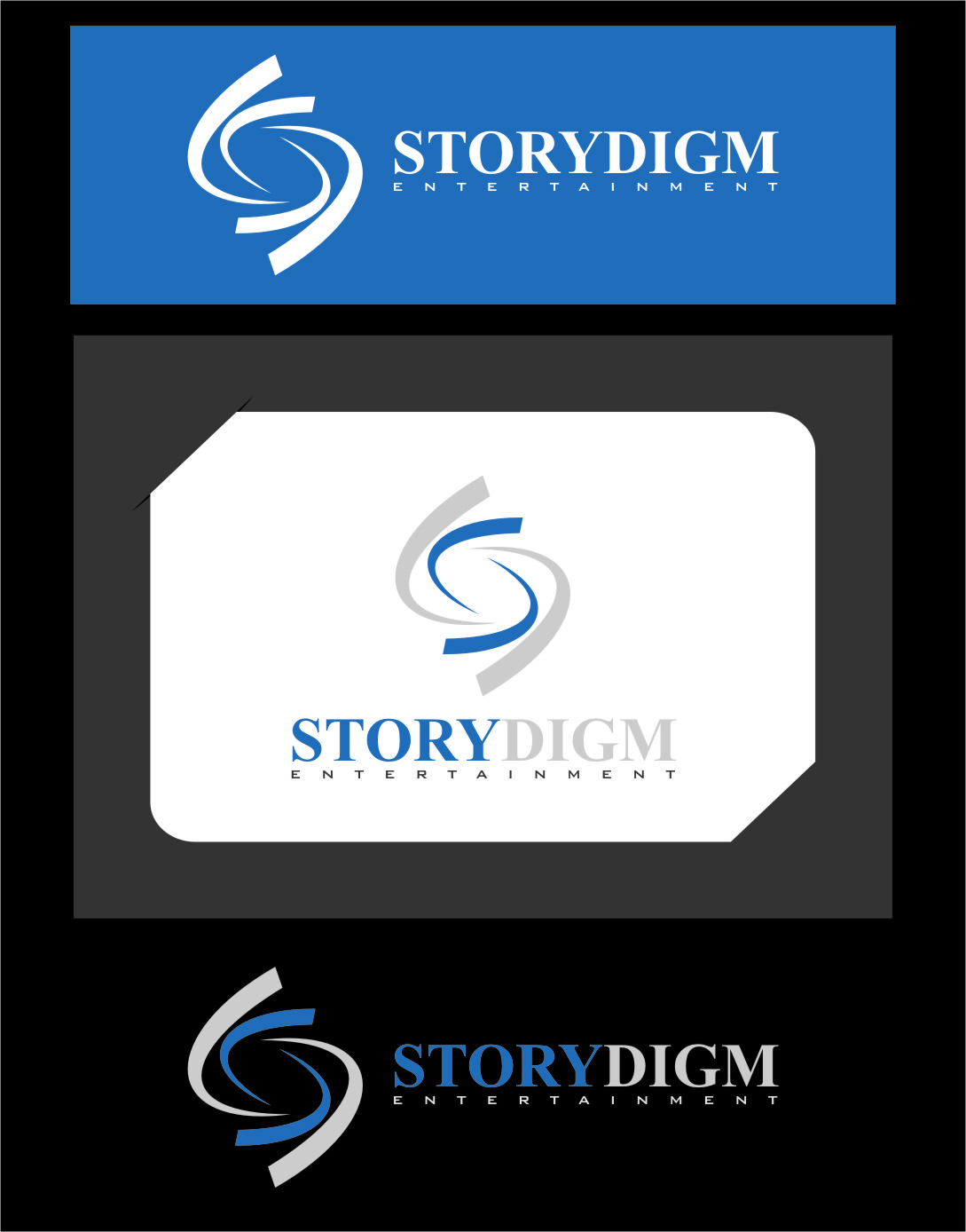 Logo Design by RasYa Muhammad Athaya - Entry No. 104 in the Logo Design Contest Inspiring Logo Design for Storydigm Entertainment.