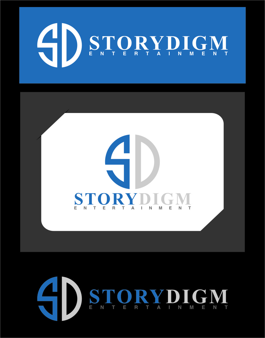 Logo Design by RasYa Muhammad Athaya - Entry No. 105 in the Logo Design Contest Inspiring Logo Design for Storydigm Entertainment.