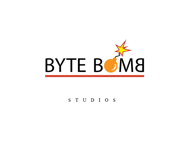 Logo Design by Kyaw Min Khaing - Entry No. 52 in the Logo Design Contest Captivating Logo Design for ByteBomb Studios.