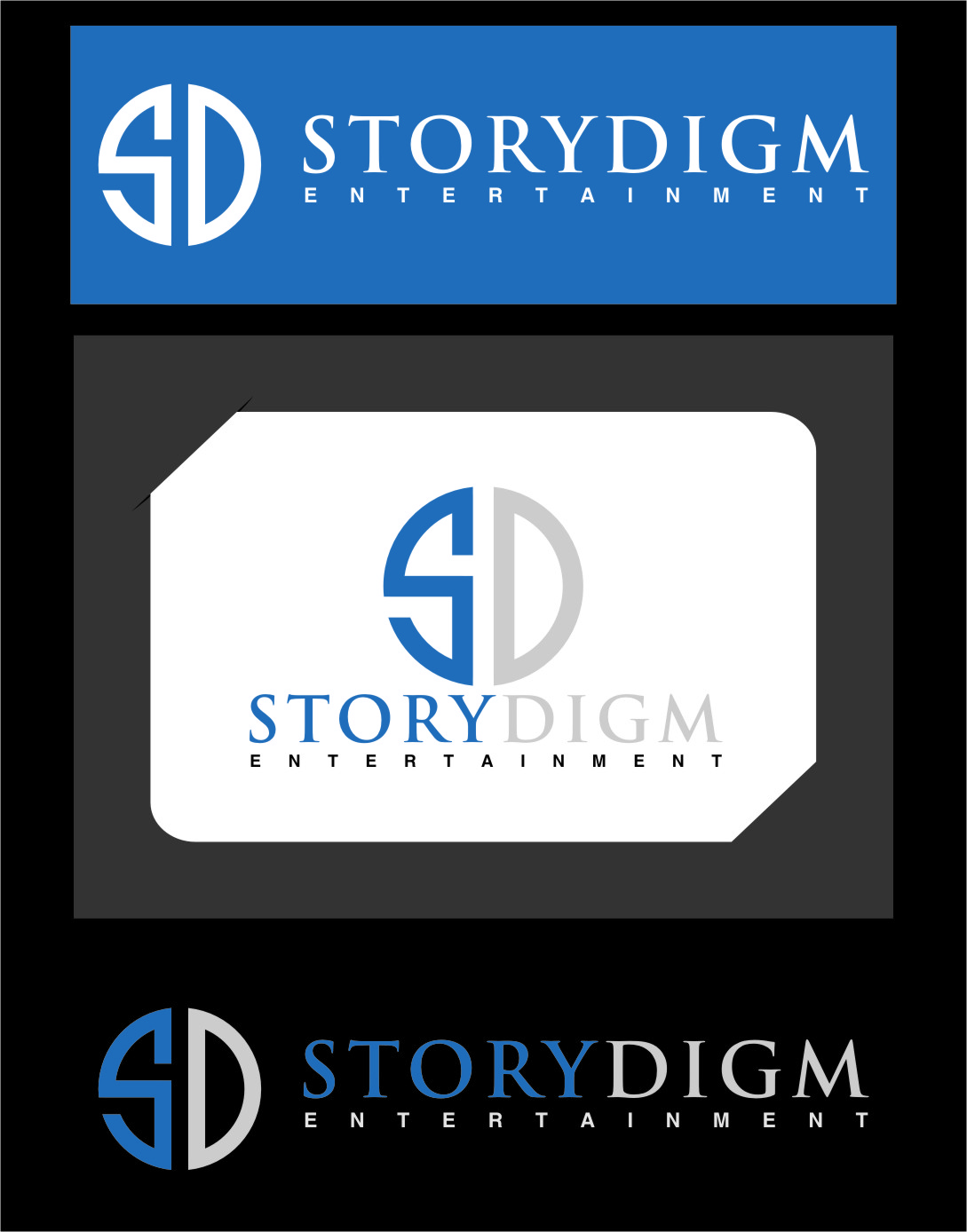 Logo Design by RasYa Muhammad Athaya - Entry No. 108 in the Logo Design Contest Inspiring Logo Design for Storydigm Entertainment.