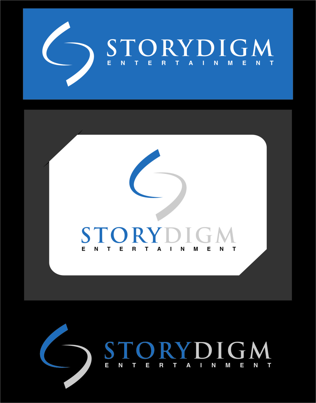 Logo Design by RasYa Muhammad Athaya - Entry No. 109 in the Logo Design Contest Inspiring Logo Design for Storydigm Entertainment.