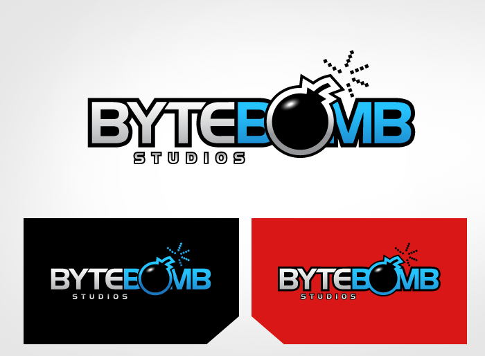 Logo Design by Jan Chua - Entry No. 58 in the Logo Design Contest Captivating Logo Design for ByteBomb Studios.