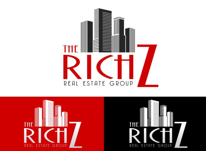 Logo Design by Jan Chua - Entry No. 323 in the Logo Design Contest The Rich Z. Real Estate Group Logo Design.