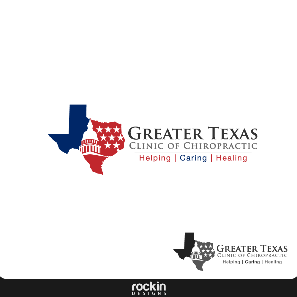 Logo Design by rockin - Entry No. 30 in the Logo Design Contest New Logo Design for Greater Texas Clinic of Chiropractic.