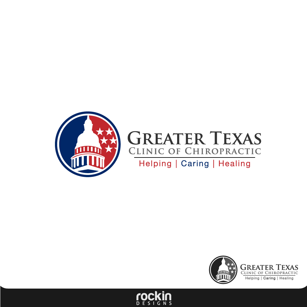 Logo Design by rockin - Entry No. 31 in the Logo Design Contest New Logo Design for Greater Texas Clinic of Chiropractic.