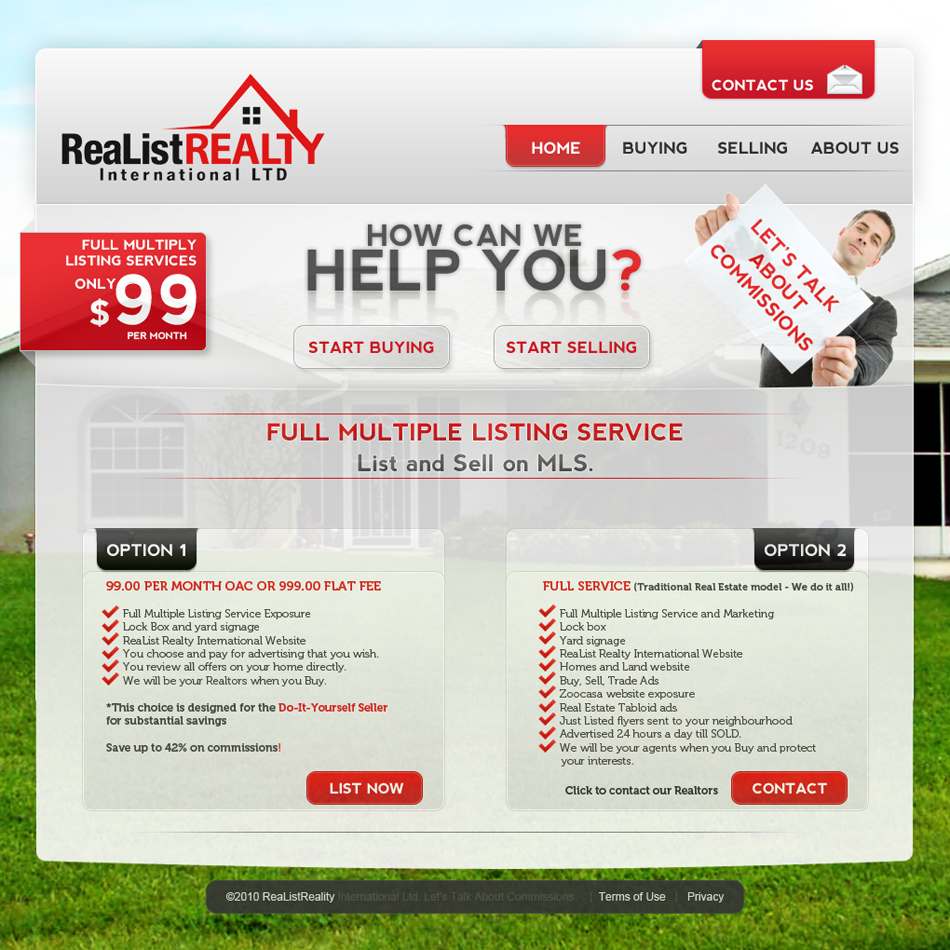 Web Page Design by Oskart - Entry No. 141 in the Web Page Design Contest Realist Realty International Ltd..