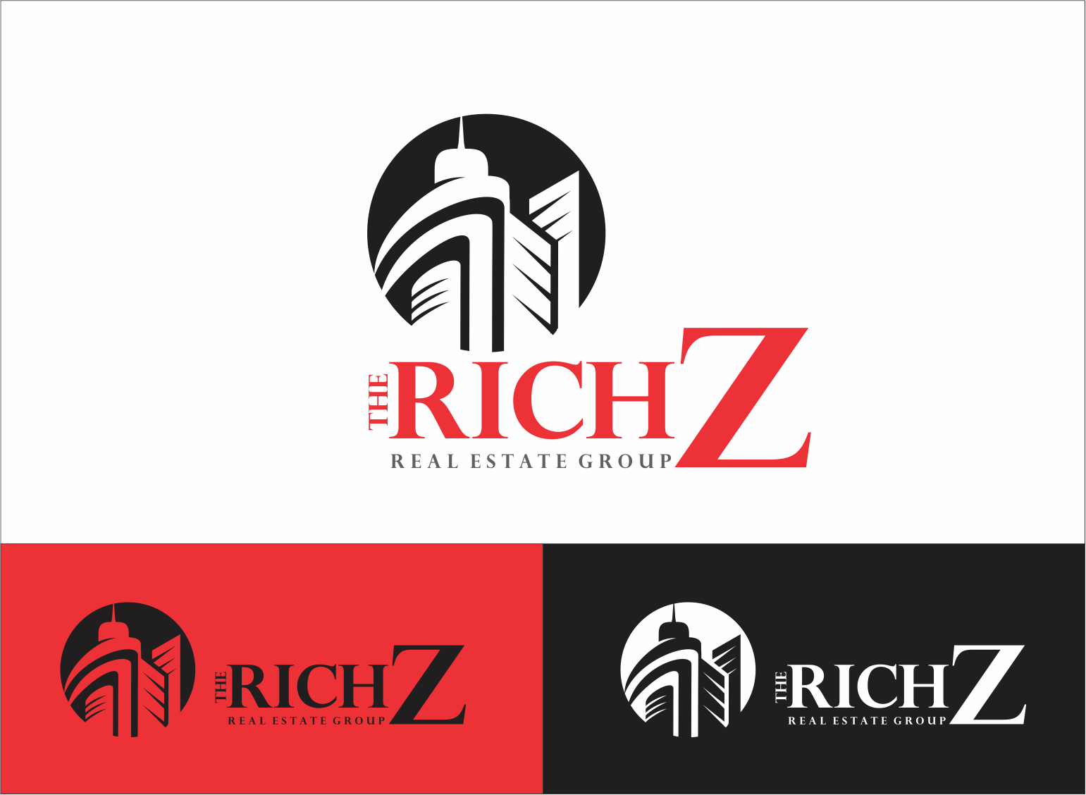 Logo Design by Armada Jamaluddin - Entry No. 335 in the Logo Design Contest The Rich Z. Real Estate Group Logo Design.
