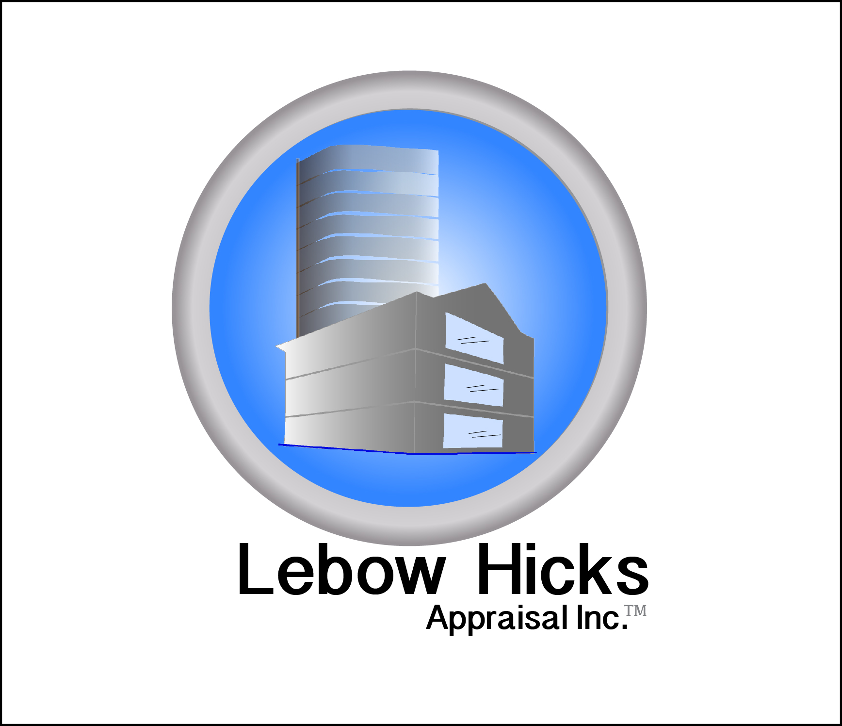 Logo Design by Nancy Grant - Entry No. 30 in the Logo Design Contest Fun Logo Design for Lebow, Hicks Appraisal Inc..