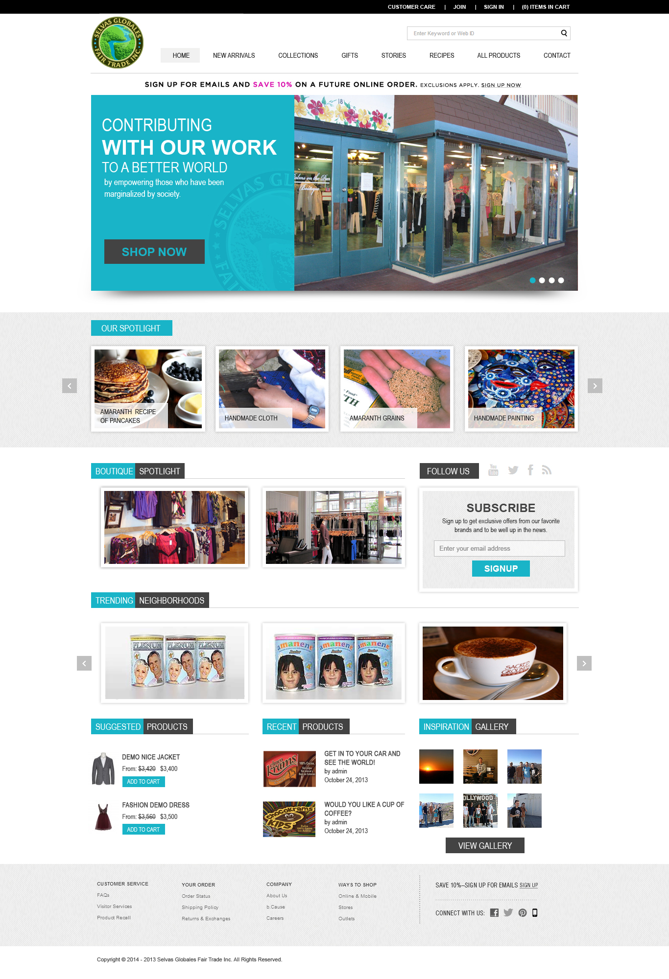 Web Page Design by Emad A Zyed - Entry No. 10 in the Web Page Design Contest Inspiring Web Page Design for Selvas Globales Fair Trade Inc..