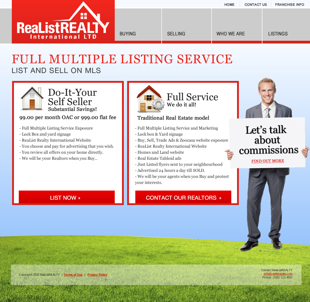 Web Page Design by wem24 - Entry No. 142 in the Web Page Design Contest Realist Realty International Ltd..