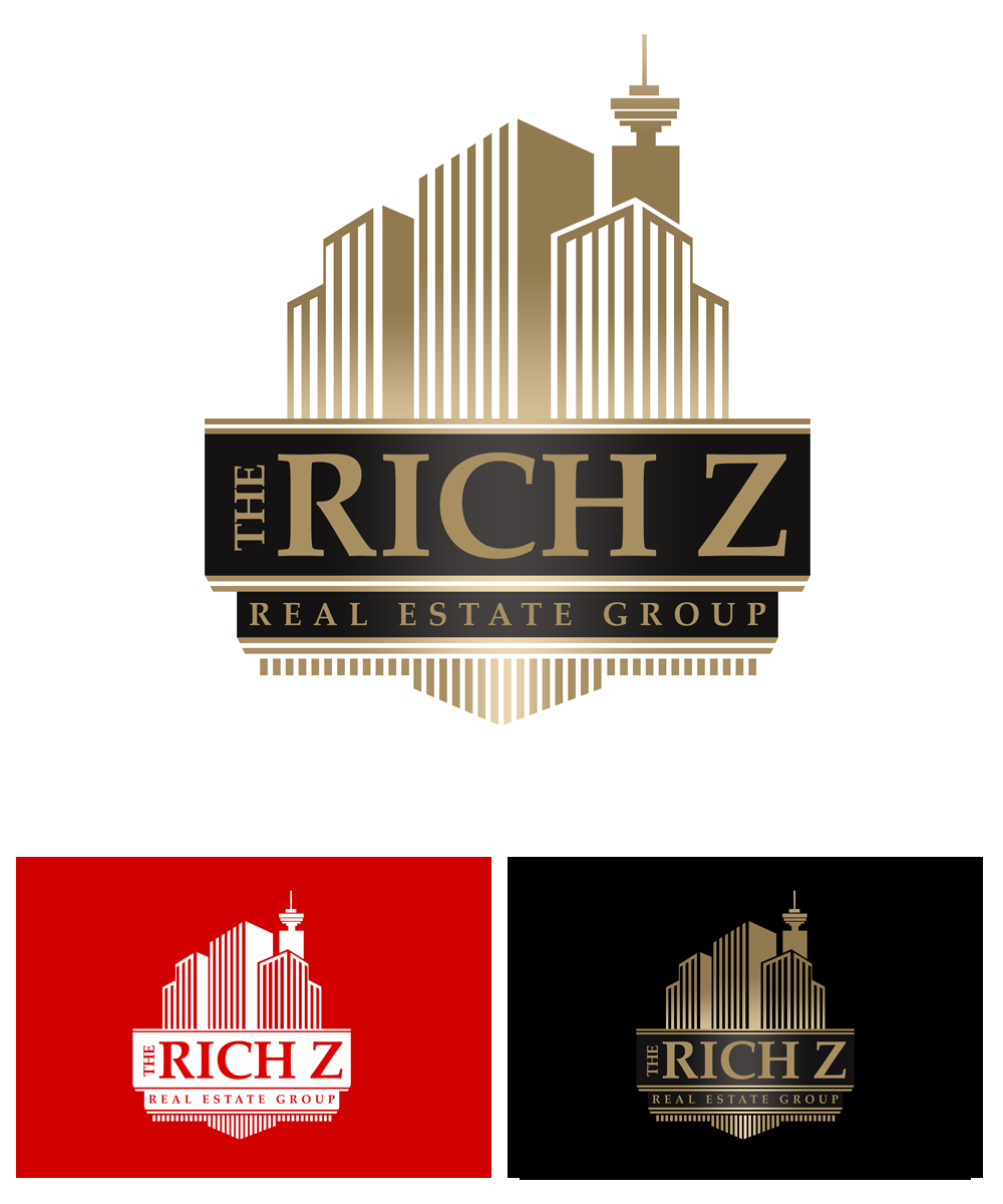 Logo Design by Private User - Entry No. 341 in the Logo Design Contest The Rich Z. Real Estate Group Logo Design.