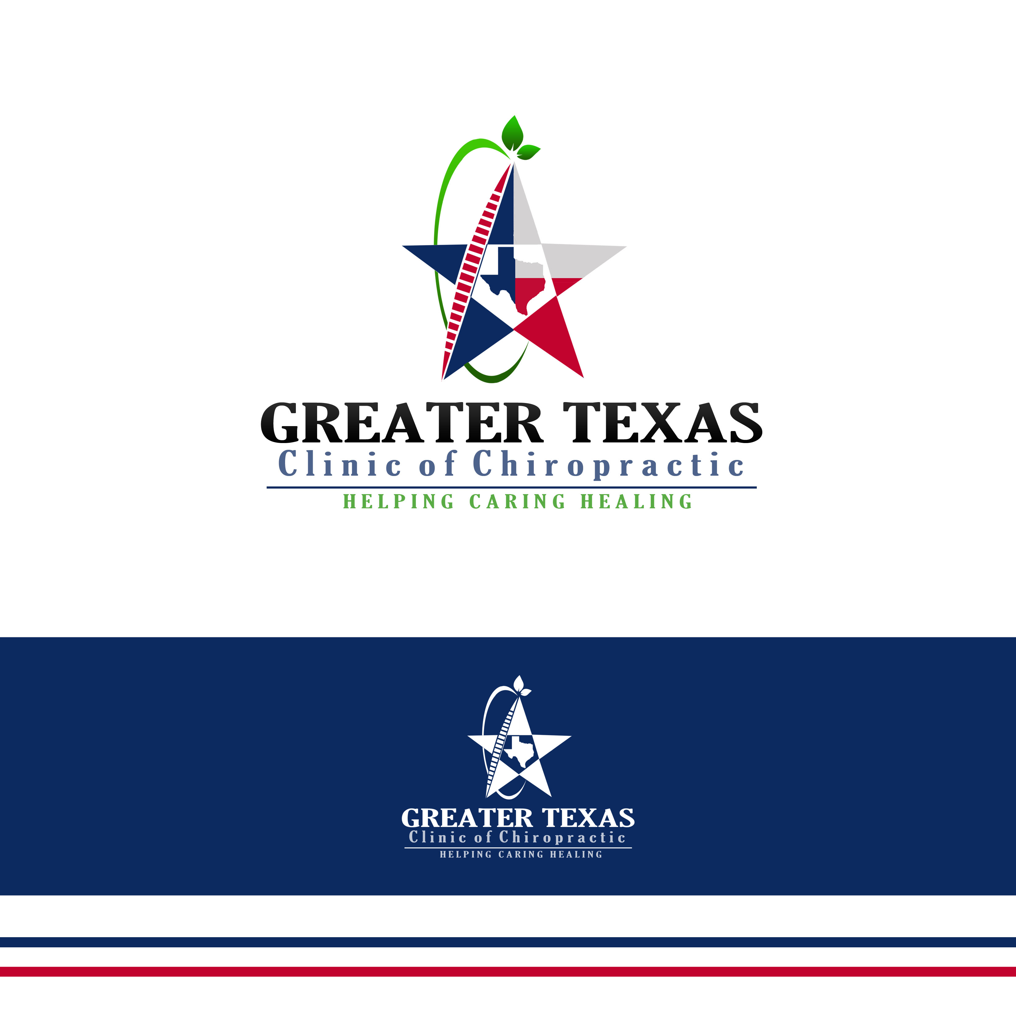 Logo Design by Allan Esclamado - Entry No. 37 in the Logo Design Contest New Logo Design for Greater Texas Clinic of Chiropractic.