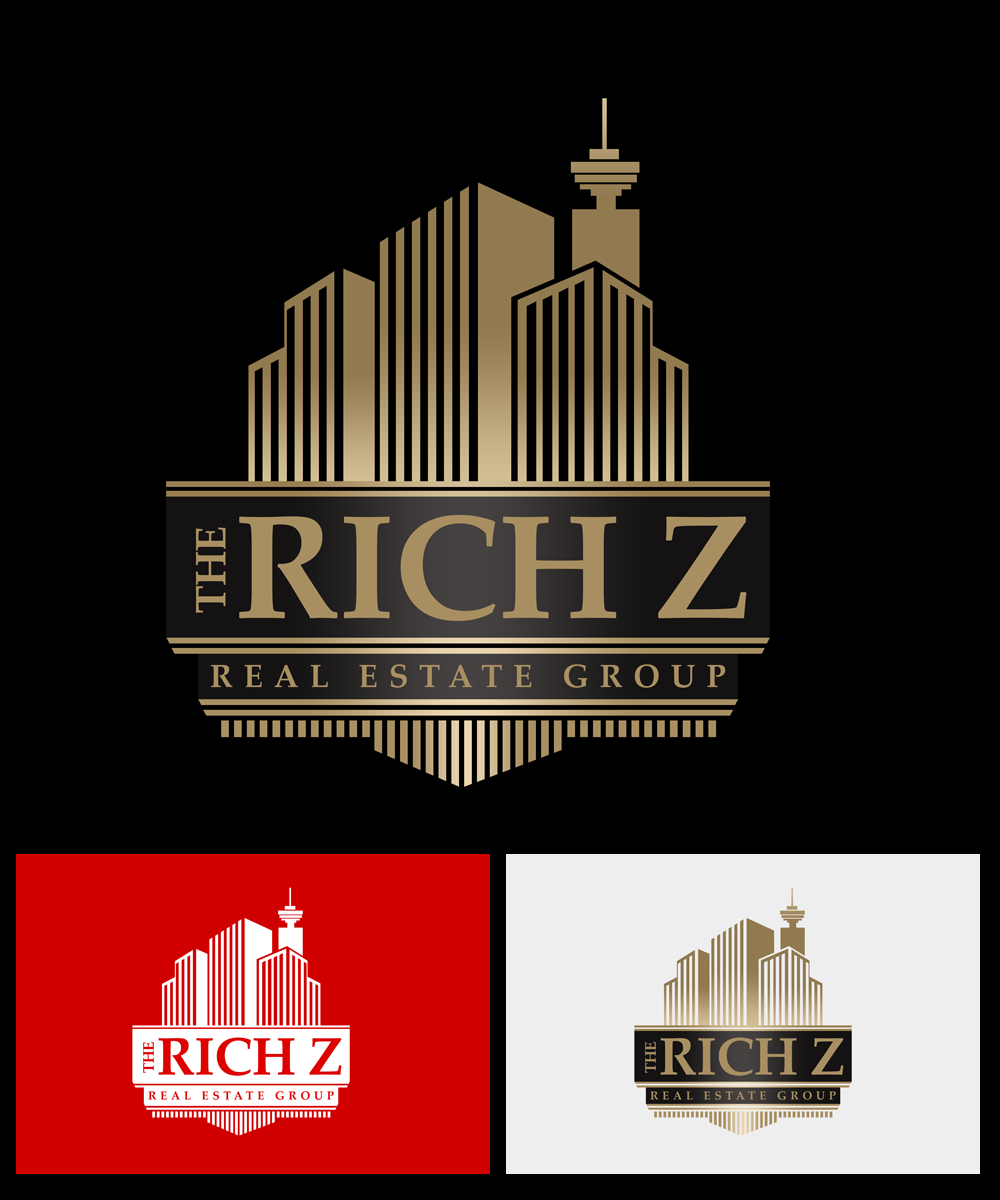 Logo Design by Robert Turla - Entry No. 342 in the Logo Design Contest The Rich Z. Real Estate Group Logo Design.