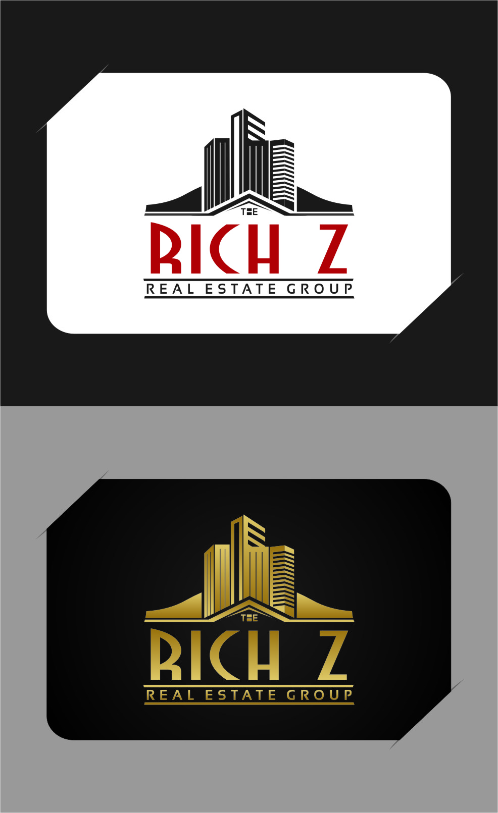 Logo Design by RasYa Muhammad Athaya - Entry No. 343 in the Logo Design Contest The Rich Z. Real Estate Group Logo Design.