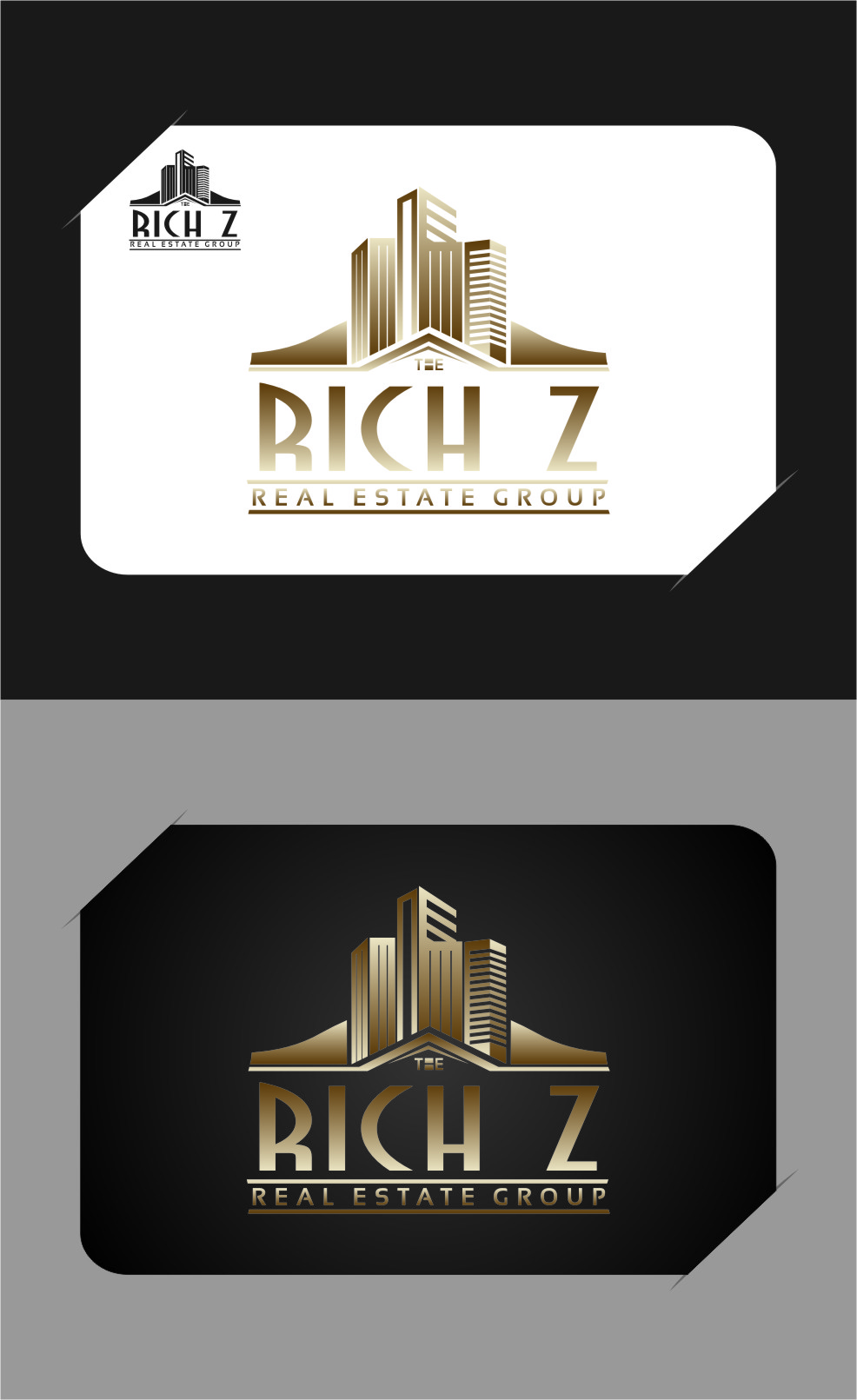 Logo Design by RasYa Muhammad Athaya - Entry No. 344 in the Logo Design Contest The Rich Z. Real Estate Group Logo Design.