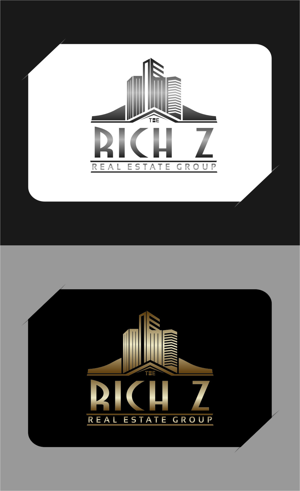 Logo Design by Ngepet_art - Entry No. 345 in the Logo Design Contest The Rich Z. Real Estate Group Logo Design.