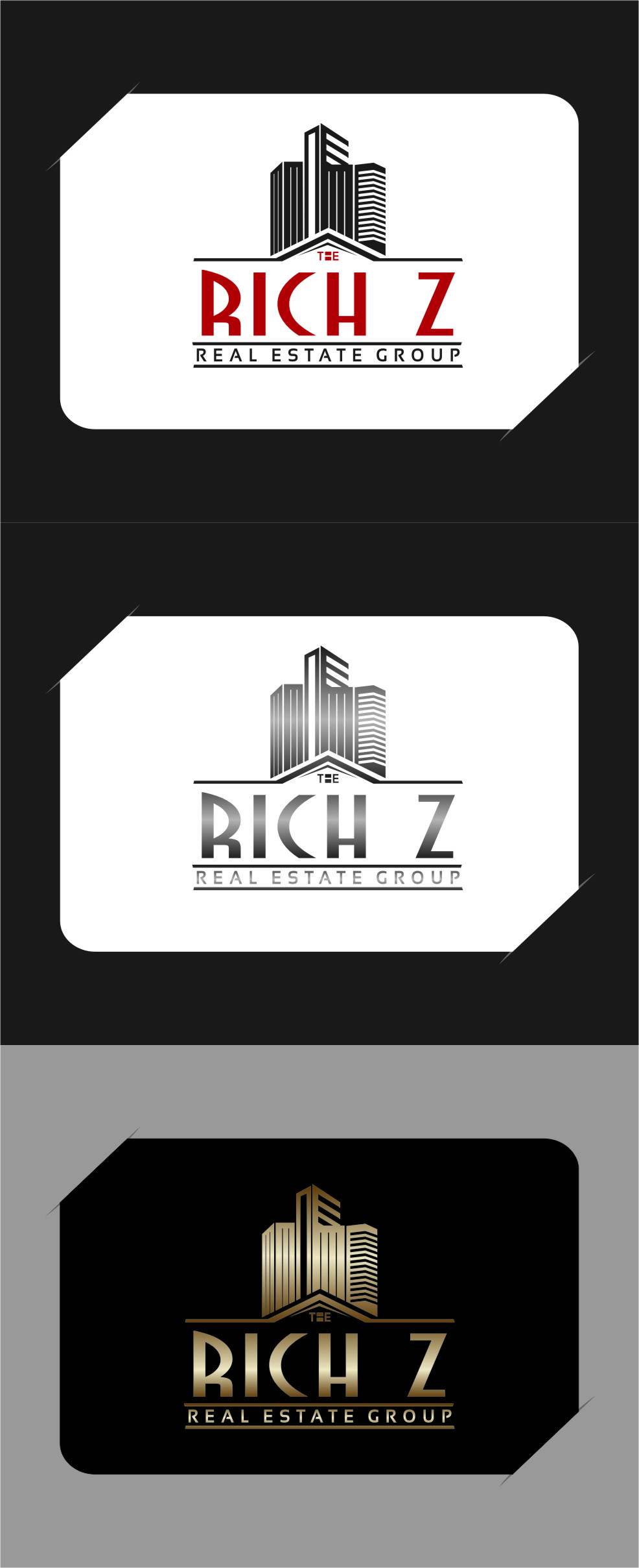 Logo Design by RasYa Muhammad Athaya - Entry No. 346 in the Logo Design Contest The Rich Z. Real Estate Group Logo Design.