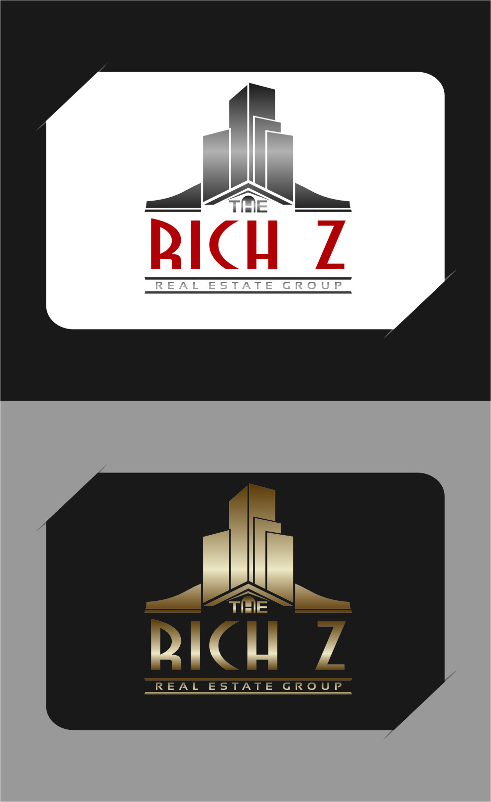 Logo Design by Ngepet_art - Entry No. 347 in the Logo Design Contest The Rich Z. Real Estate Group Logo Design.