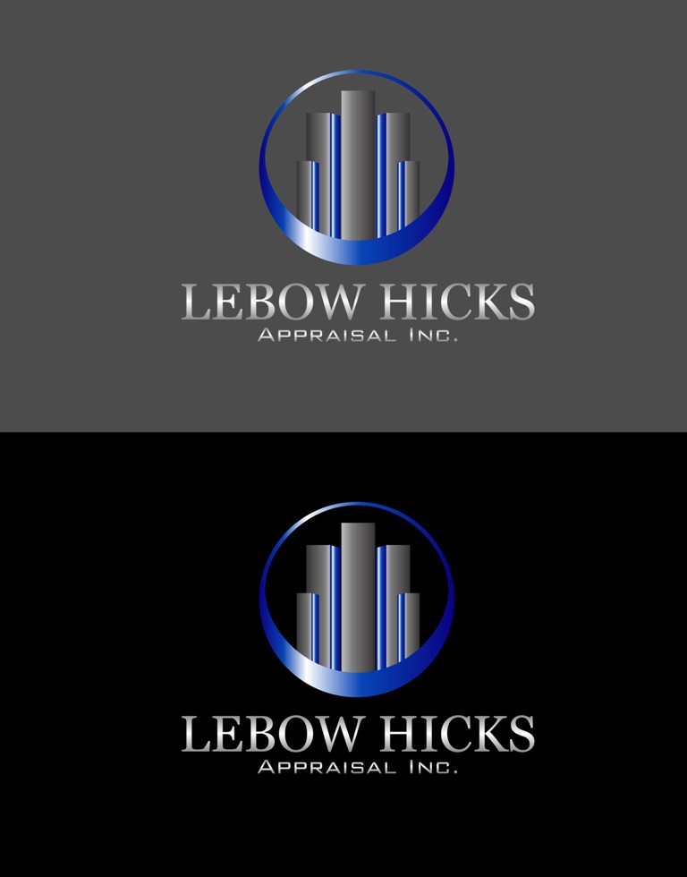 Logo Design by Crispin Jr Vasquez - Entry No. 31 in the Logo Design Contest Fun Logo Design for Lebow, Hicks Appraisal Inc..