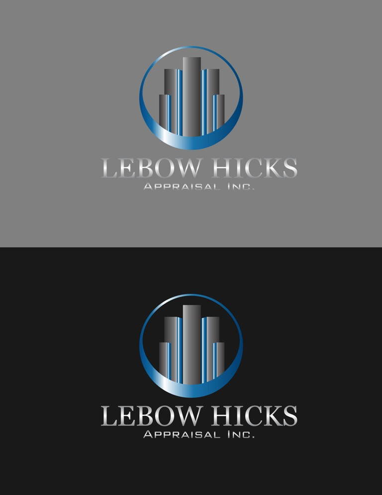 Logo Design by Crispin Jr Vasquez - Entry No. 32 in the Logo Design Contest Fun Logo Design for Lebow, Hicks Appraisal Inc..