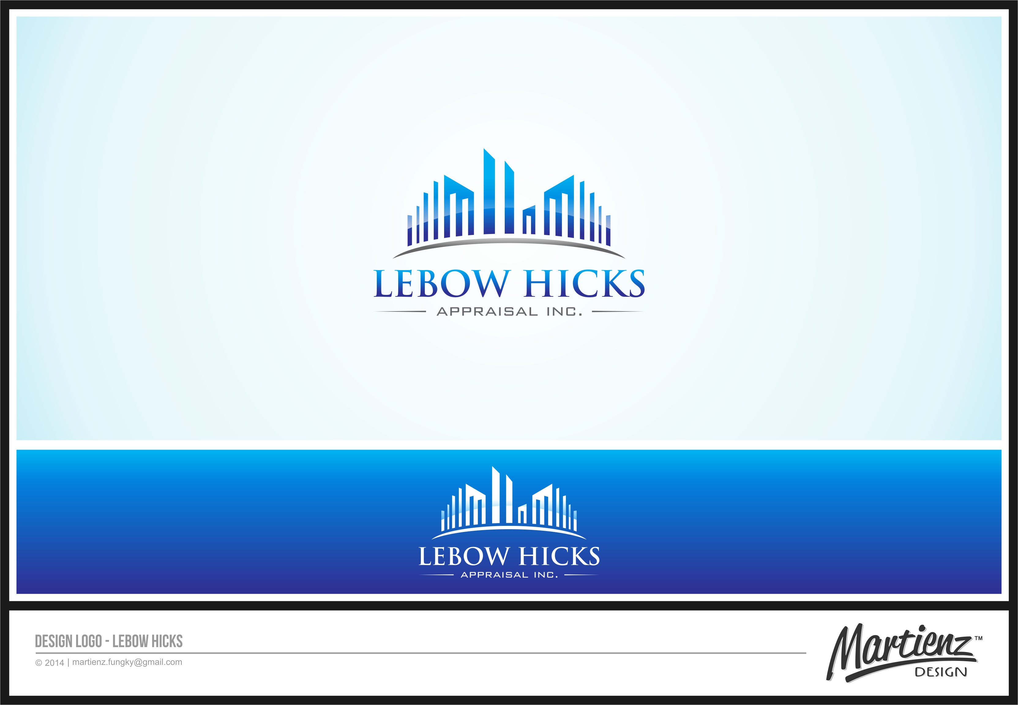 Logo Design by SHENDI MARTIN M - Entry No. 35 in the Logo Design Contest Fun Logo Design for Lebow, Hicks Appraisal Inc..