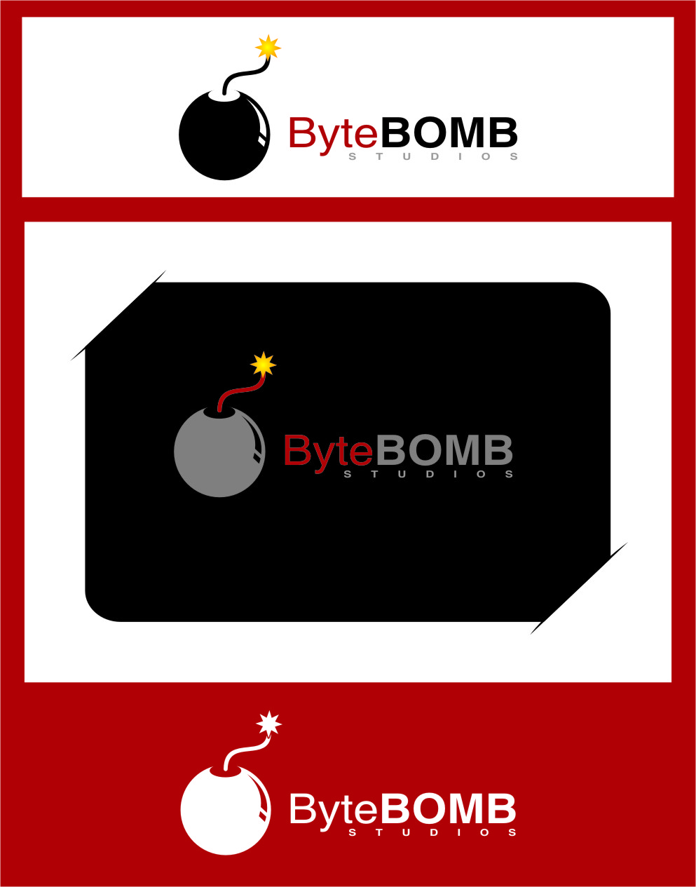 Logo Design by Ngepet_art - Entry No. 79 in the Logo Design Contest Captivating Logo Design for ByteBomb Studios.