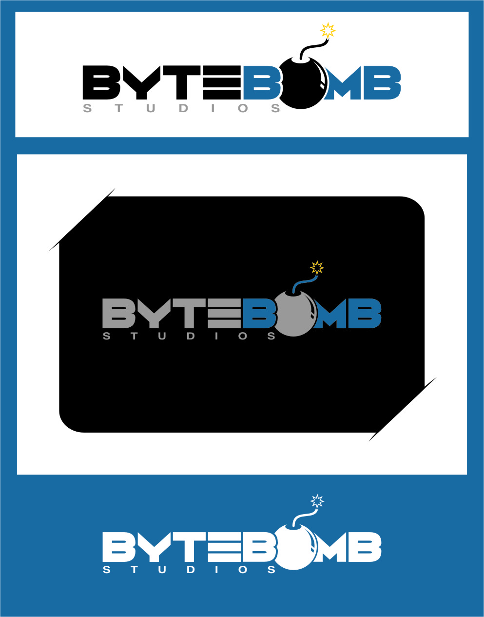 Logo Design by RoSyid Rono-Rene On Java - Entry No. 84 in the Logo Design Contest Captivating Logo Design for ByteBomb Studios.
