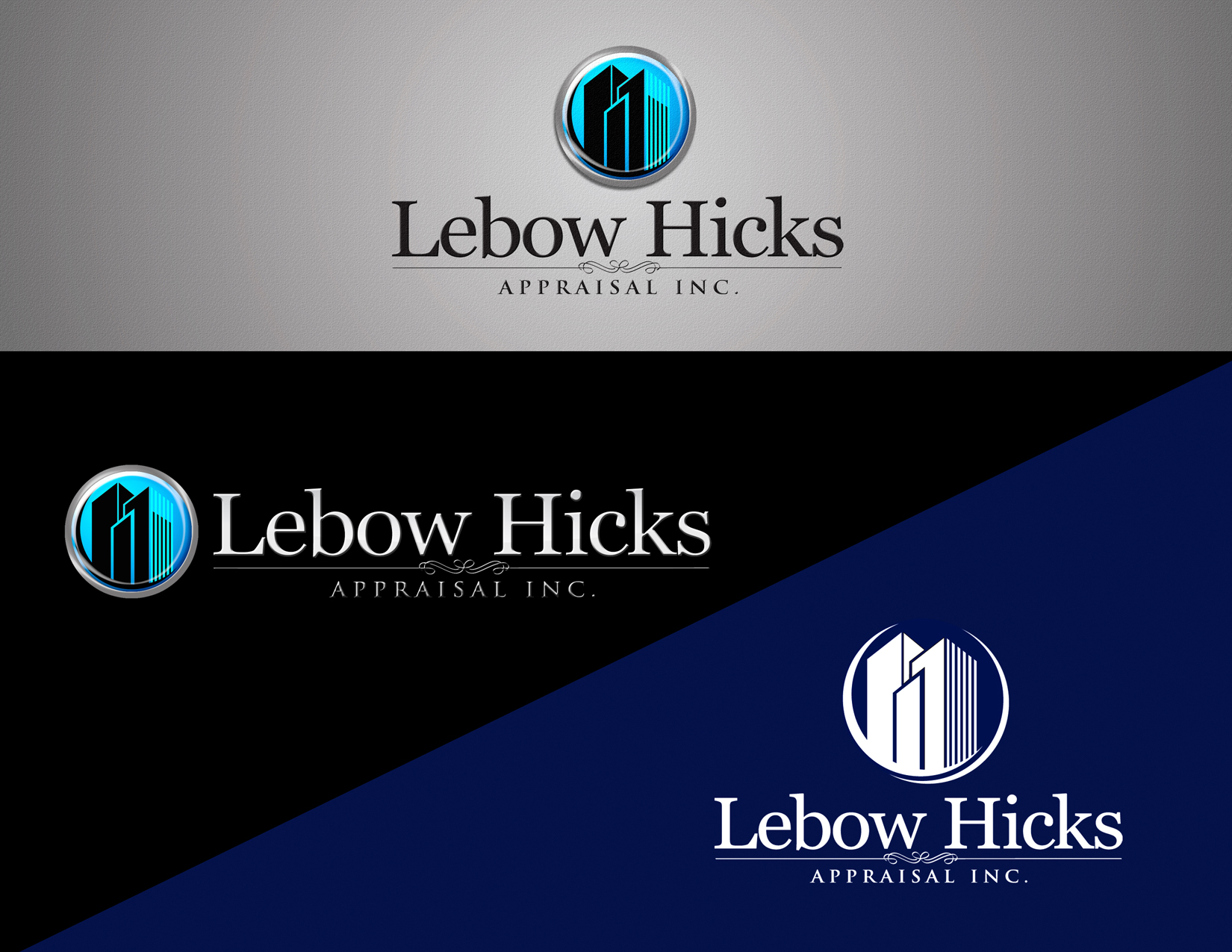 Logo Design by Private User - Entry No. 39 in the Logo Design Contest Fun Logo Design for Lebow, Hicks Appraisal Inc..